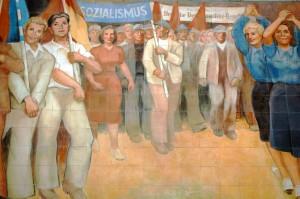 Reputed virtues of socialism mural